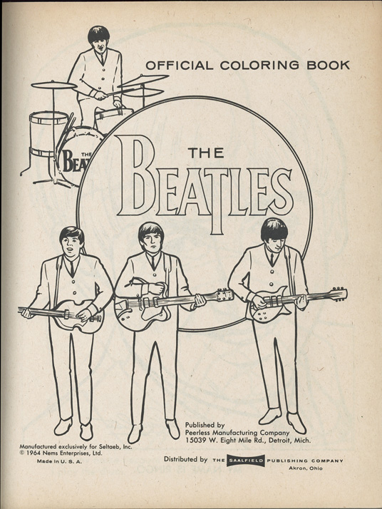 fab 4 collectibles the very best quality in authentic autographs original records memorabilia original 1960s memorabilia inventory - Beatles Coloring Book