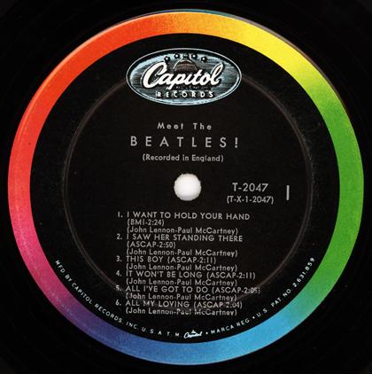 meet the beatles label variations of green