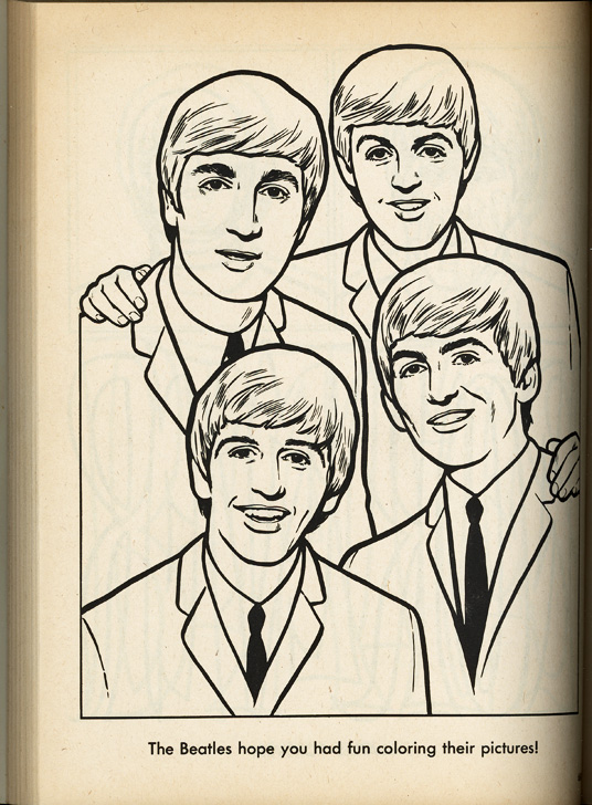 35 The Beatles Coloring Book - Free Printable Coloring Pages